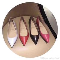 2020 Супер качество Red Bottom женщин сандалии плоские лето / весна Овчина натуральная кожа Luxey Дизайн леди женщин красные подошвы обуви