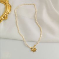 SRCOI Irregular Natural Freshwater Small Pearl Beads Necklac...