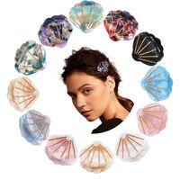 Клипы ребёнки Jewelry волос Когти Зажим Женщины Barrettes Уксусная кислота Shell для волос Аксессуары для волос для партии подарков