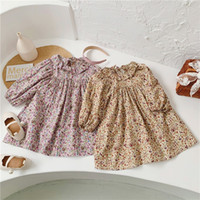 INS Spring Autumn Little Girls Dresses Lovely Floral Great Q...