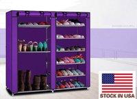 Make-up Organizer Opslag Dubbele rijen 9 Roosters Combinatie Stijl Schoenekast Purple USA
