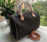 2020 Mulheres Messenger Saco de Viagem Estilo Clássico Moda Bags Sacos de Ombro Senhora Totes Bolsas Speedy 30 cm com Bloqueio de Ouro