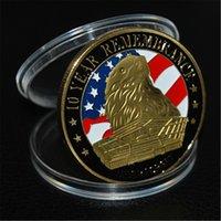 2020 America Will Be Great Again Vereinigte Staaten Eagle-Freiheit Gerechtigkeit Handel vergoldet 911 Herausforderungs-Münze