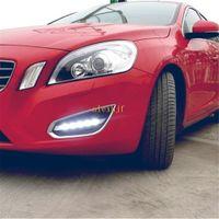 Julho, o rei LED luzes diurnas Case for Volvo S60 2011-2013 6000K Frente LED Bumper DRL, 1: 1 de substituição, transporte rápido