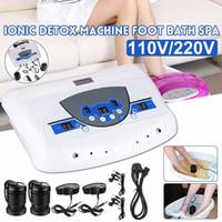 110V / 220V double utilisateur ionique detox bain de pieds Spa Ion machine cellulaire nettoyer MP3 Arrays Gtue #