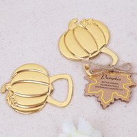100pcs Gold Color Metal Fall Autumn Pumpkin Bottle Opener Operners Anniversary Bridal Wedding Party Favor gift gifts SN3181