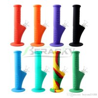 Beracky 9 Inch Silicone Water Bongs with 14mm Male Glass Bowl Downstem 18mm Female Silicone Dab Rigs for Quartz Banger Nails Glass Pipes