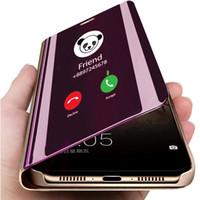 Смарт Зеркало телефона чехол для Samsung Galaxy S10 S9 S8 Plus S10e A6 A8 A7 2018 Примечание 8 9 A10 A30 A40 A50 A60 A70 M10 M20 M30 Обложка