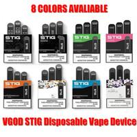 VGOD STIG monouso Pod dispositivo 3Pcs pacchetto 270mAH batteria 1,2 ml Pen Kit cartuccia Vape EON STICK POSH PLUS