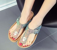 Size 35-44 Summer Women Flats Sandals Cork Slippers Unisex Casual Shoes Print Mixed Colors