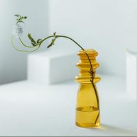 Basit Ins Konu Şeffaf Renk Cam Vazolar Dekorasyon Oturma Odası Hidroponik Çiçek Takma Cihazı Vazo