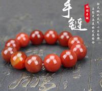 Achat Armband Männer und Frauen irdenen einzigen Kreis Perlen Buddha Perlen Armband Paare Geschenk des Jahres der Geburt Armband