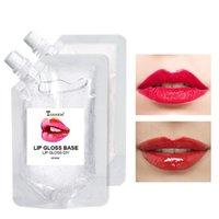 50 / ml Lip Gloss Foundation Idratante Nutriente Olio per labbro opaco FAI DA TE Materiale fatto a mano con glitter Lip Trucco Rossetto liquido