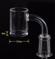 25mm OD 4mm Bottom Thickness QUARTZ Banger Glass Smoking Accessories 90 Degree 14mm Male Female Joint