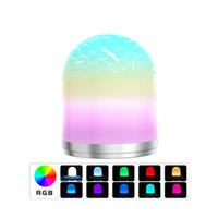 Night Light RGB LED Bedside USB Atmosphere Lamps with Remote Control Colorful Camping Lantern For Home Decor Table Lamp Kids Baby Bedroom Gift CRESTECH