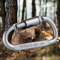 Outdoor-Klettern Schnalle Haken Aluminium D Form Karabiner Buckle Multifunktions-Hängen Camping Keychain Werkzeug