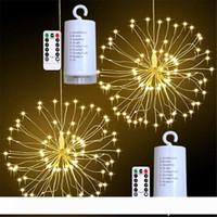 Подвесной Starburst LED свет шнура 100leds DIY Firework Медь Fairy Garland Рождественские огни Открытый Twinkle огни