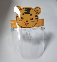 Детские Прозрачные защитная маска Anti-капельный Всплеск ПЭТ двухсторонней пленка противотуманная Независимая Опп сумка Упаковка EEA1849