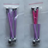 Bâton comprimé à billes sphériques 4pcs / set poignée en plastique Costume Beans Rod en acier inoxydable à découper céramique triques gâteau Outils de cuisson Kit 2 9BG C2