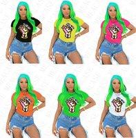 Black Lives Citente Femmes T-shirt Designer Dessin animé Couleur ronde Tops T-shirts à manches courtes Tshirt Plus Taille T-shirt Été Femmes Vêtements D7805
