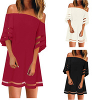 Seksi Yeni Bayan Yaz T-Shirt Tops Tees Siyah Kırmızı Uzun Kollu Floroskopi Bayanlar Aşınma Şifon Gallus Boyut S-XXL