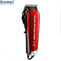 Kemei Professional Hair Clipper Elektrische Akku-Haartrimmer LED KM-2611 Haarschneider Carbon Steel Klingenfriseur Maschine