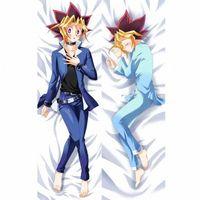 Caracteres BL macho japonés AnimeYu Gi Oh Yugi Muto masculino Tire regalos Otaku Dakimakura de cama abrazando el cuerpo Funda de almohada 150x50 CM HnXO #