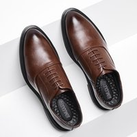 BIMUDUIYU Business Formal Black Leather Shoes Mens Fashion Casual Dress Shoes Classic Italian Formal Oxford For Men