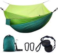 Zelte und Unterkünfte Camping Hängematte mit Netto, leichter Outdoor Indoor Portable Tree Starps Carabiners für Reisen Wandern Abenteuer