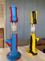 Силиконовые бонги Perc Съемные прямые водопроводные трубы бонги курительные бонг со стеклянной миной мини-бонги с кварцевым бангером