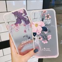 Alivio pintado 3D de teléfono caja de la flor de silicona de nuevo la cubierta para el iphone Relieve 11 Pro 7 8 Plus 6 6s caja del teléfono de la cubierta XS Max XR