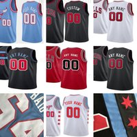 Custom Printed Jerseys Top Quality New Blue City Red Black W...