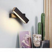Illuminazione dell'interno LED Rotazione lampada da parete regolabile nero 7W bianco per Camera Foyer Specchio di Luce Corridoio sconce AC90-220V