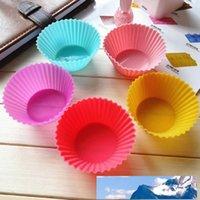 6 اللون سيليكون الكعك كعكة كب كيك قالب حالة خبز صانع القالب علبة كأس الخبز جامبو قالب DH0158