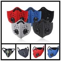 Vana Dahili Solunum Filtre Cycling Maskeler ile Binme Bisiklet Su geçirmez toz geçirmez Yüz Maske Doğa Sporları Anti-toz Maskesi