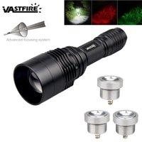 손전등 토치 C11 48mm 렌즈 휴대용 LED 사냥 토치 화이트 / 레드 / 그린 컬러 300-1300 LM 1 모드 빛 18650