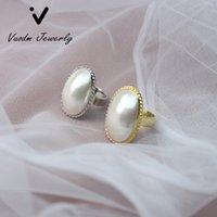 Ringe aus natürlichem Süßwasser Mabe Pearl Verstellbare Fingerringe für Frauen Party Hochzeitsgeschenk