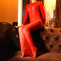 Vestidos casuais mulheres sexy vestido brilhante óleo brilhante brilhar bodystocking bodycon ver através de bodysuit de seda bodyhose passo 28