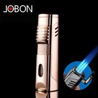 Jobon Metal Gas Flint Feuerzeug Jet Butangas Fenster Oneethree Torch Turbo Feuerzeug Zigaretten Zigarre Zubehör Rauchen Feuerzeuge Kein Gas