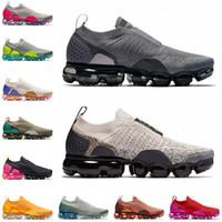 نايك الجوية VaporMax MOC 2 الرجال النساء احذية الجري في الهواء الطلق Chaussures أسود ضوء كريم الشراع ميكا الأخضر Gunsmoke رجل مدرب الرياضة أحذية رياضية