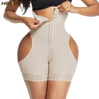 HEXIN عالية الخصر بات رافع تحكم البطن الملابس الداخلية الغنيمة رفع سحب داخلية المشكل تجريب الخصر المدرب مشد Shapewear Y200710