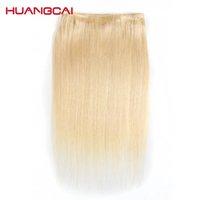 Farbe # 613 Menschliches Haar Bündel mit Spitzenverschluss Remy Brasilianische Haarwebart Bündel Honig Blonde Bündel mit Schließung 10- 30 Zoll
