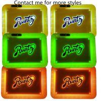 Plateau de lueur LED runtz 28 * 20,8 * 3,6 cm avec batterie de 550mAh Batterie rechargeable rechargeable plateau de cigarette cadeau