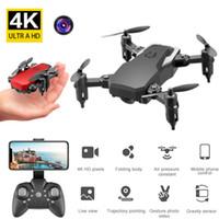 LF606 wifi fpv rc بدون طيار quadcopter 4 كيلو hd مع 2.0mp كاميرا 360 درجة الدورية مصغرة المحمولة الطي الطي الطائر الطائر الصبي لعبة هدية