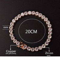 S 3mm 4mm Mens Cubic Zirconia Tennis Bracelet Chain Hip Hop ...