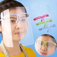 Estoque dos EUA, Clear Protective Face Shield Máscara Plástica Proteção Face Proteção Isolamento Máscara Anti-Nevoeiro Protetora Máscara De Máscara Chapéu