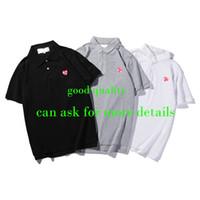 Мужчины Deserters Polos рубашка мода летние футболки повседневная дышащая с коротким рукавом тройник сердца печать