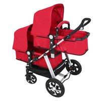 Babyfond gemelo del cochecito de bebé puede sentarse y acostarse El paisaje de luz alta y prueba de plegado del cochecito doble