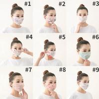 Máscaras Chiffon Boca Floral Impresso Flores Máscaras Designer respirador Mulheres Verão Esporte Duplo Lavados Máscara Mesh face Dustproof LSK240