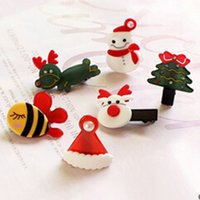 Nette Weihnachtskopfbedeckungen für Mädchen Weihnachtsbaum / Schneemann / Hut / Hundeform Mini Hairpin Kreative Dekorationen IC975412